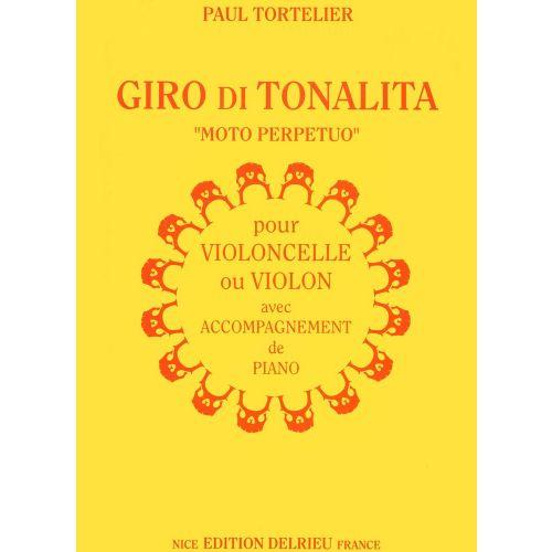 EDITION DELRIEU TORTELIER PAUL - GIRO DI TONALITA - VIOLON