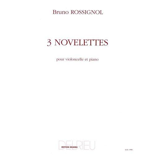 EDITION DELRIEU ROSSIGNOL - NOVELETTES - VIOLONCELLE, PIANO