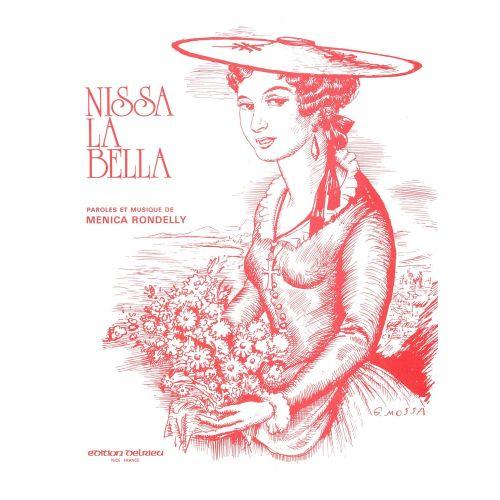 EDITION DELRIEU RONDELLY MENICA - NISSA LA BELLA - CHANT, PIANO