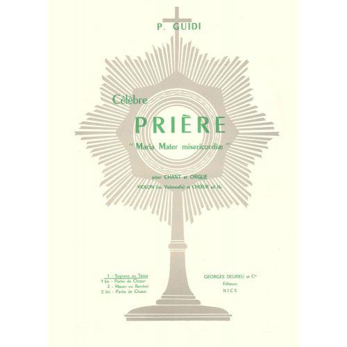 EDITION DELRIEU GUIDI P. - PRIERE N°1 - VOIX ELEVEE, ORGUE