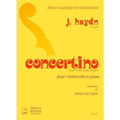 EDITION DELRIEU HAYDN J. - CONCERTINO - VIOLONCELLE, PIANO