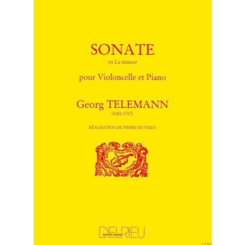 EDITION DELRIEU TELEMANN GEORG-PHILIPP - SONATE EN LA MIN. - VIOLONCELLE, PIANO