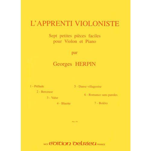 EDITION DELRIEU HERPIN GEORGES - L'APPRENTI VIOLONISTE