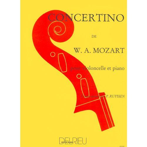 EDITION DELRIEU MOZART W.A. - CONCERTINO EN RE MAJ. - VIOLONCELLE, PIANO