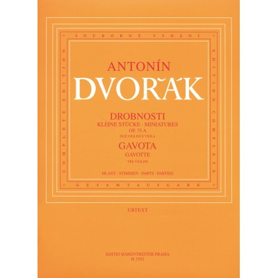 BARENREITER DVORAK ANTON - MINIATURES OP.75A / GAVOTTE B164 - 2 VIOLONS & ALTO
