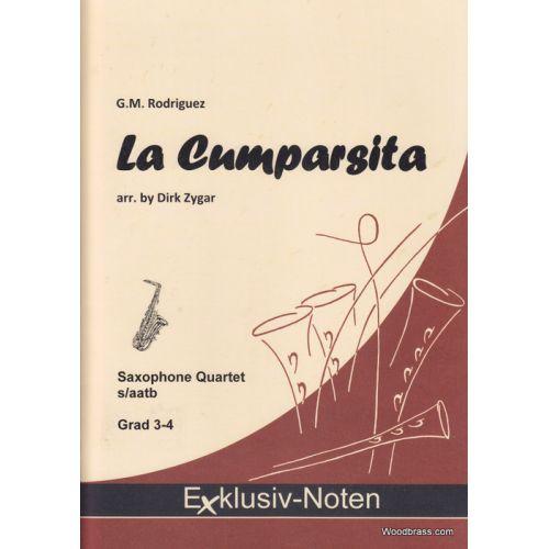 EXCLUSIV NOTEN RODRIGUEZ C.M. - LA CUMPARSITA - QUATUOR DE SAXOPHONES