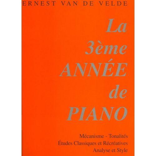 VAN DE VELDE VAN DE VELDE E. - METHODE ROSE 3EME ANNEE - PIANO