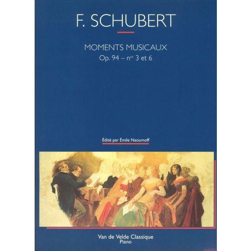 VAN DE VELDE SCHUBERT F. - MOMENTS MUSICAUX N°3 ET 6 - PIANO