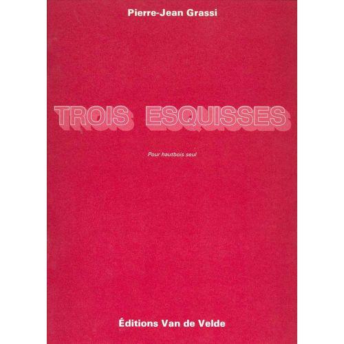 VAN DE VELDE GRASSI PIERRE-JEAN - ESQUISSES (3) - HAUTBOIS SOLO