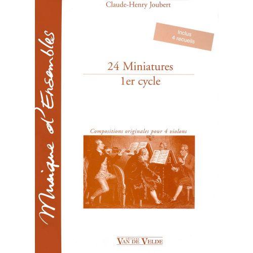 VAN DE VELDE JOUBERT CLAUDE-HENRY - MINIATURES (24) - 4 VIOLONS