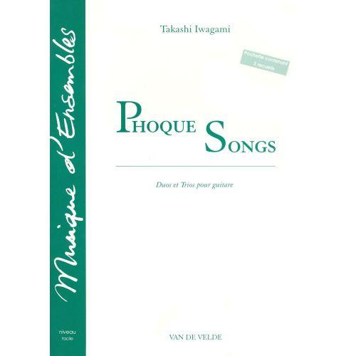 VAN DE VELDE IWAGAMI TAKASHI - PHOQUE SONGS - 2 A 3 GUITARES
