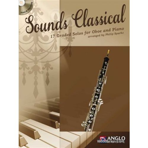 ANGLO MUSIC SOUNDS CLASSICAL - 17 GRADED SOLOS FOR OBOE AND PIANO