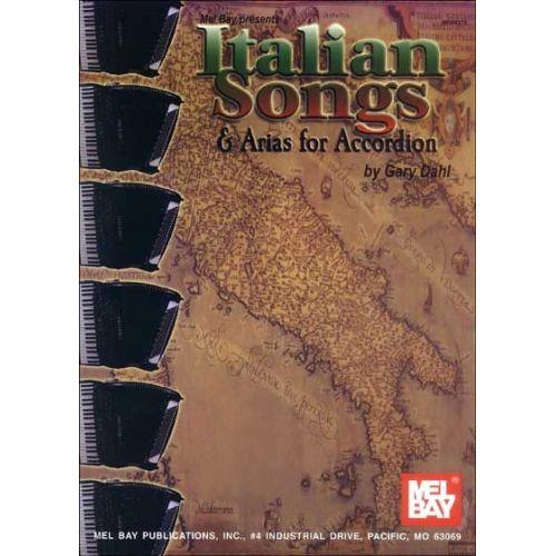 MEL BAY DAHL GARY - ITALIAN SONGS & ARIAS FOR ACCORDION