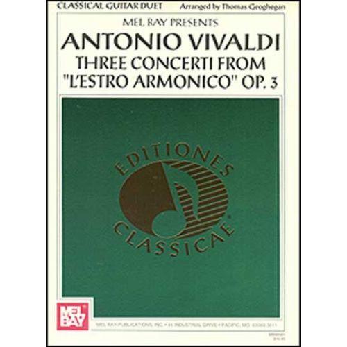 MEL BAY GEOGHEGAN THOMAS - ANTONIO VIVALDI: THREE CONCERTI FROM L'ESTRO ARMONICO OP. 3 - GUITAR