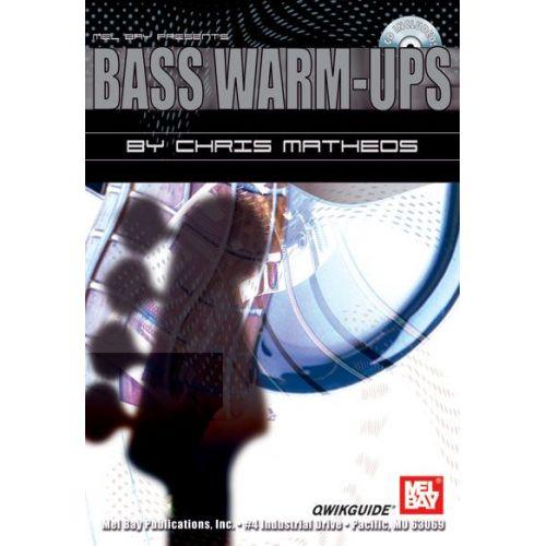 MEL BAY MATHEOS CHRIS - BASS WARM-UPS QWIKGUIDE + CD - ELECTRIC BASS
