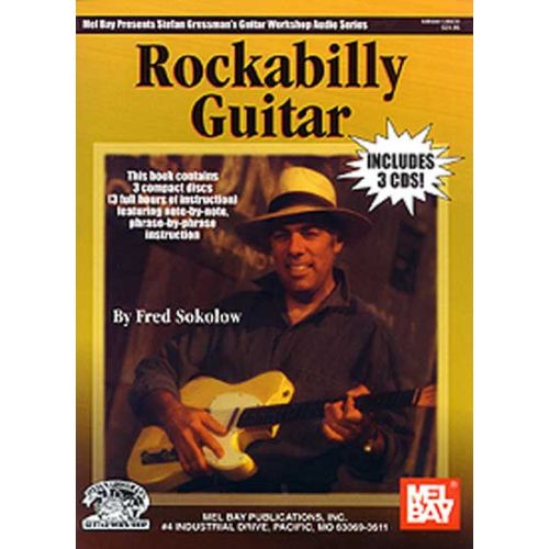 MEL BAY SOKOLOW FRED - Rockabilly Guitar Book/3-CD Set