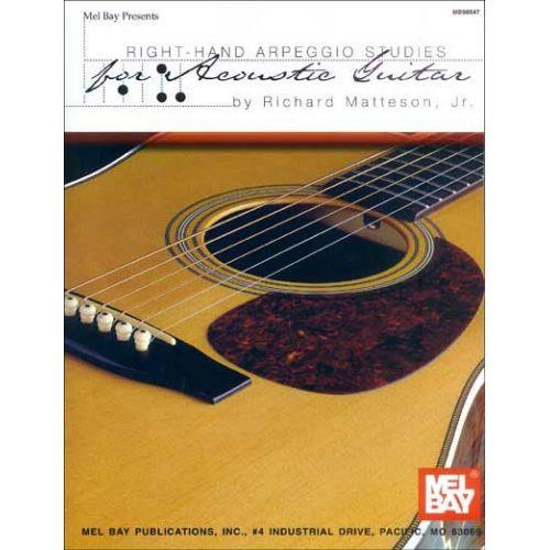MEL BAY MATTESON, JR. RICHARD - RIGHT-HAND ARPEGGIO STUDIES FOR ACOUSTIC GUITAR - GUITAR