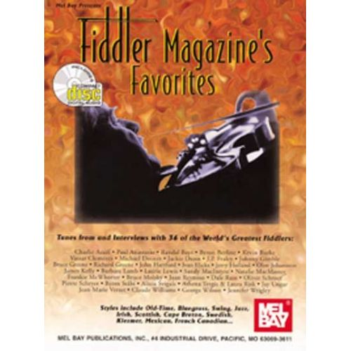 MEL BAY FIDDLER MAGAZINE'S FAVORITES + CD - FIDDLE