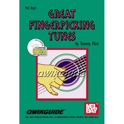 MEL BAY FLINT TOMMY - GREAT FINGERPICKING TUNES QWIKGUIDE + CD - GUITAR