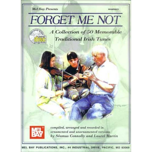 MEL BAY CONNOLLY SÉAMUS - FORGET ME NOT + CD - FIDDLE