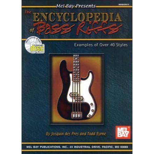 MEL BAY BYRNE TODD - THE ENCYCLOPEDIA OF BASS RIFFS + CD - ELECTRIC BASS