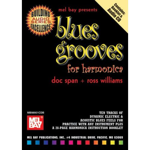mel bay span doc blues grooves for harmonica cd harmonica. Black Bedroom Furniture Sets. Home Design Ideas