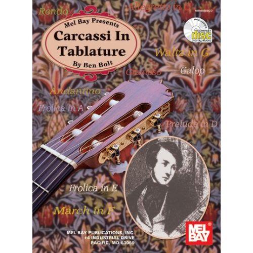 MEL BAY BOLT BEN - CARCASSI IN TABLATURE + CD - GUITAR