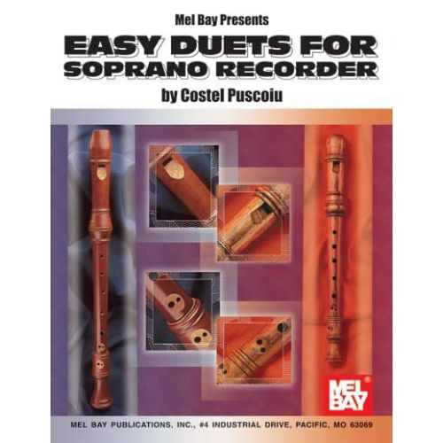 MEL BAY PUSCOIU COSTEL - EASY DUETS FOR SOPRANO RECORDER - RECORDER