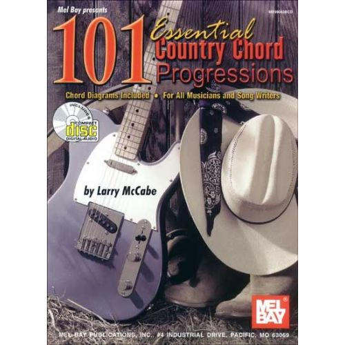 MEL BAY MCCABE LARRY - 101 ESSENTIAL COUNTRY CHORD PROGRESSIONS + CD - GUITAR