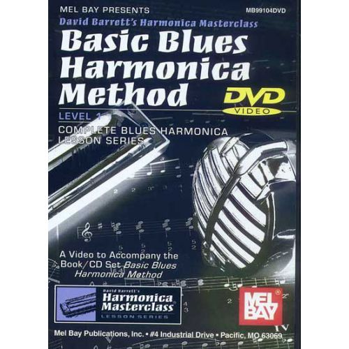 MEL BAY BARRETT DAVID - BASIC BLUES HARMONICA METHOD - HARMONICA