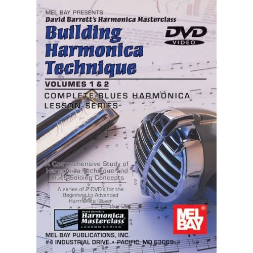 MEL BAY BARRETT DAVID - BUILDING HARMONICA TECHNIQUE VOLUME 1 AND 2 - HARMONICA