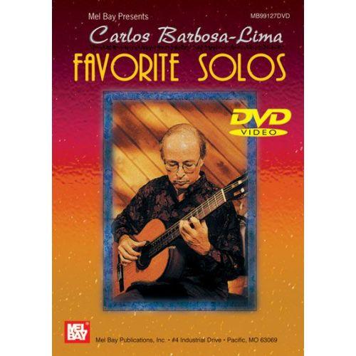 MEL BAY BARBOSA-LIMA CARLOS - FAVORITE SOLOS - GUITAR