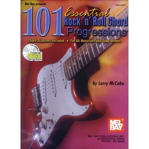MEL BAY MCCABE LARRY - 101 ESSENTIAL ROCK 'N' ROLL CHORD PROGRESSIONS + CD - GUITAR