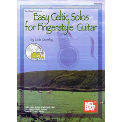 MEL BAY CROWLEY LISLE - EASY CELTIC SOLOS FOR FINGERSTYLE GUITAR + CD - GUITAR