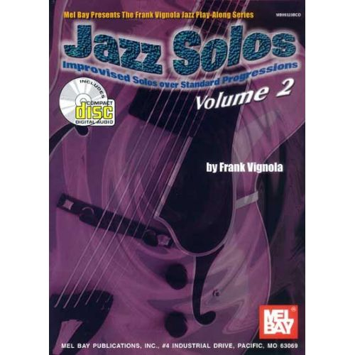 MEL BAY VIGNOLA FRANK - JAZZ SOLOS, VOLUME 2 + CD - GUITAR