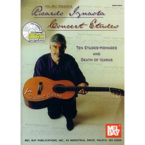 MEL BAY IZNAOLA RICARDO - CONCERT ETUDES + CD - GUITAR