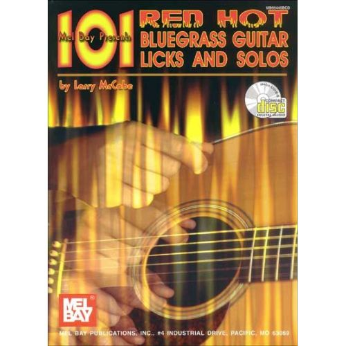 MEL BAY MCCABE LARRY - 101 RED HOT BLUEGRASS GUITAR LICKS AND SOLOS + CD - GUITAR