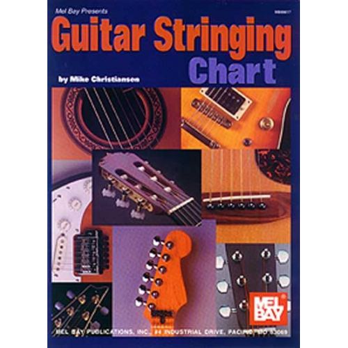 MEL BAY CHRISTIANSEN MIKE - GUITAR STRINGING CHART - GUITAR