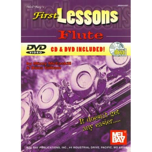 MEL BAY MCCASKILL MIZZY - FIRST LESSONS FLUTE + CD + DVD - FLUTE
