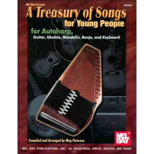 MEL BAY PETERSON MEG - A TREASURY OF SONGS FOR YOUNG PEOPLE - ACOUSTIC INSTRUMENTS/SONGBOOK
