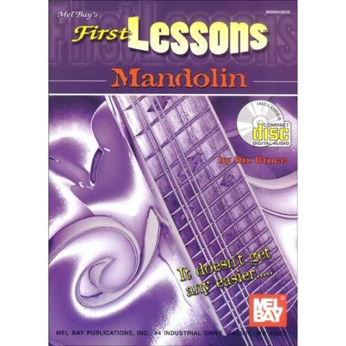 MEL BAY BRUCE DIX - FIRST LESSONS MANDOLIN + CD - MANDOLIN