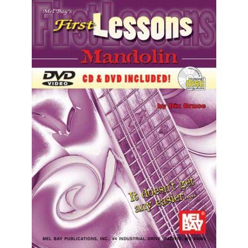 MEL BAY BRUCE DIX - FIRST LESSONS MANDOLIN + CD + DVD - MANDOLIN