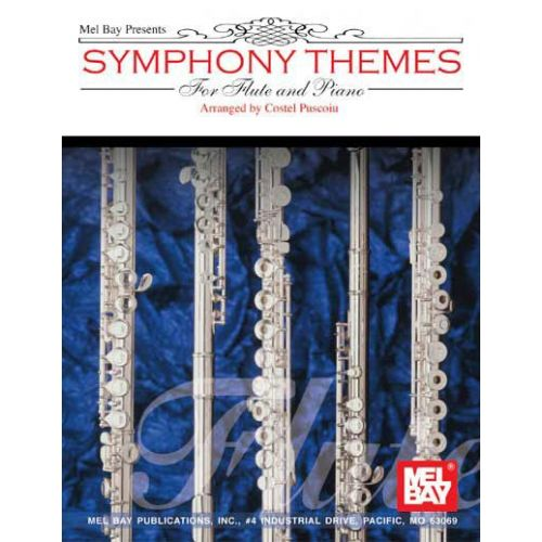 MEL BAY PUSCOIU COSTEL - SYMPHONY THEMES FOR FLUTE AND PIANO - FLUTE