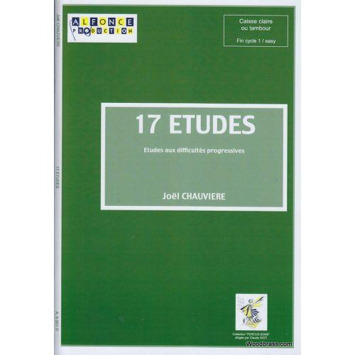 ALFONCE PRODUCTION CHAUVIERE J. - 17 ETUDES - CAISSE CLAIRE (TAMBOUR)