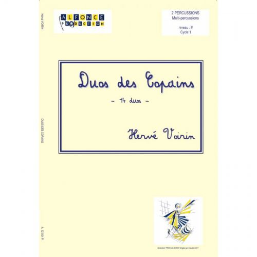 ALFONCE PRODUCTION VOIRIN HERVE - DUOS DES COPAINS - DUO DE PERCUSSIONS