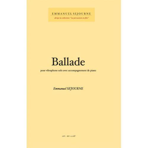 ALFONCE PRODUCTION SEJOURNE EMMANUEL - BALLADE - VIBRAPHONE SOLO & PIANO