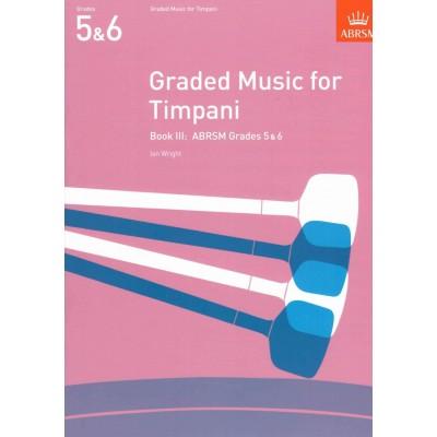 ABRSM PUBLISHING GRADED MUSIC FOR TIMPANI VOL.III (GRADES 5-6)