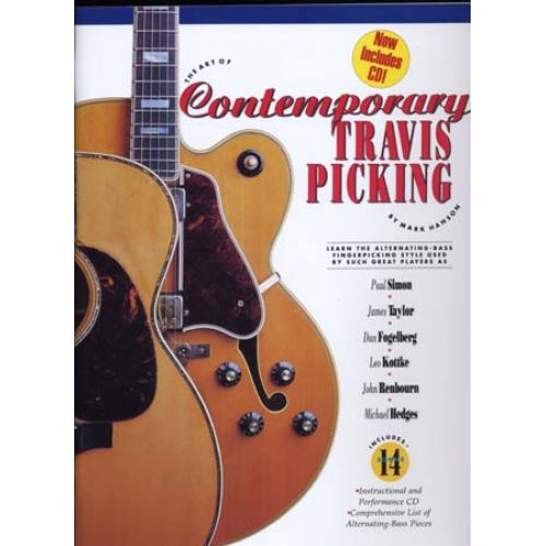 MUSIC SALES HANSON MARK - CONTEMPORARY TRAVIS PICKING + CD - GUITAR TAB