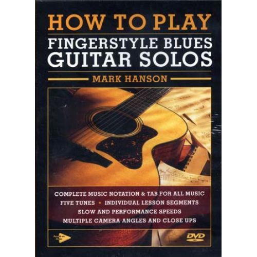 MUSIC SALES HANSON MARK - HOW TO PLAY FINGERSTYLE BLUES GUITAR SOLOS