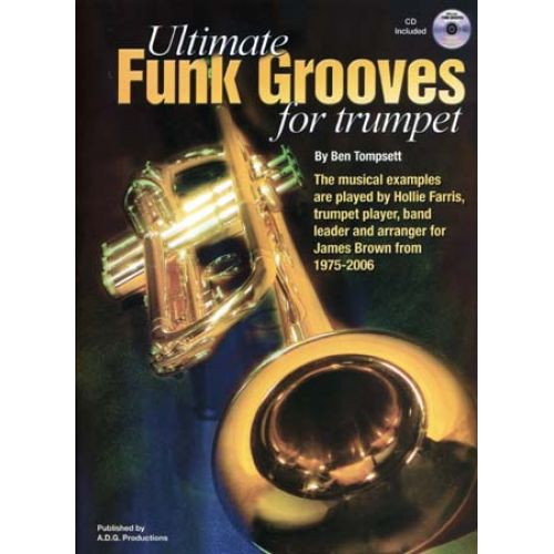 ADG PRODUCTIONS ULTIMATE FUNK GROOVES FOR TRUMPET CD